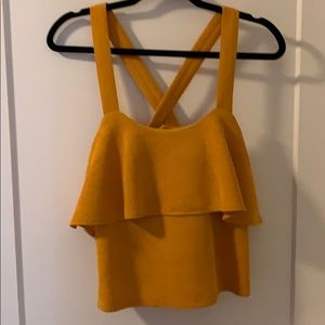 Madewell Top small yellow flowy